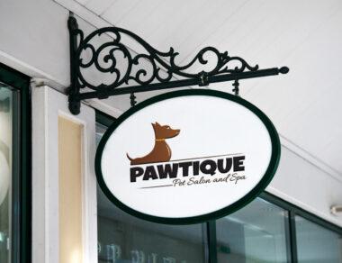 Logo Design for Pawtique Pet Salon and Spa