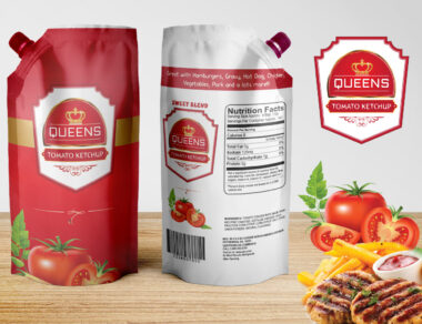 Packaging & Label Design for Queens Tomato Ketchup