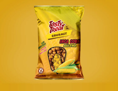 Label Design for Giant Inka Corn Stand Up Pouch Design